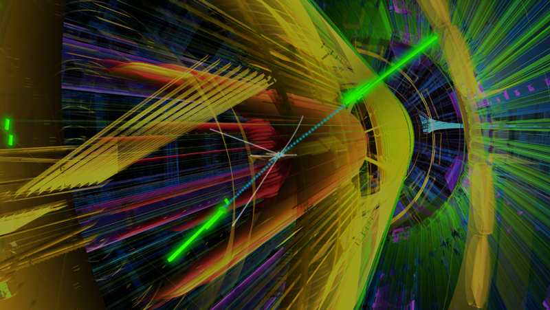 Simulation of the decay of a Higgs boson into two photons in the ATLAS detector at the LHC
